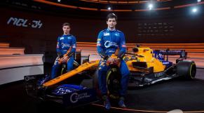 Les pilotes de Formule 1 Carlos Sainz Jr et Lando Norris