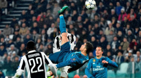But de Ronaldo contre la Juventus de Turin