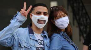 """Le """"Maski'ri"""", le masque marocain pour personnes sourdes et malentendantes."""