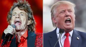 Mike Jagger et Donald Trump