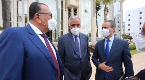 Lors de la rencontre entre les dirigeants de l'Association marocaine des médias et de l'édition et le minitère de la Communication.