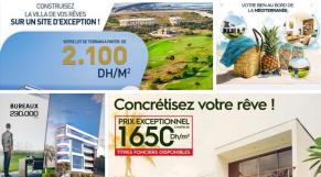 Affiches publicitaires des promoteurs immobiliers