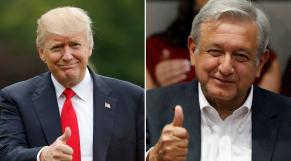 Donald Trump et Andres Manuel Lopez Obrador