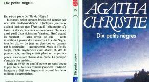 """""""Dix petits nègres"""" d'Agatha Christie."""