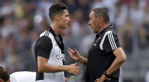 Maurizio Sarri (à droite) et Cristiano Ronaldo.
