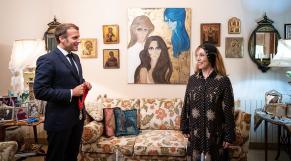 Emmanuel Macron en visite chez Fayrouz