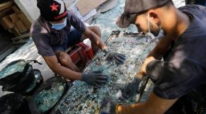 Verre reçyclé - Explosion de Beyrouth
