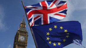 Union Jack Drapeau UE et Big Ben
