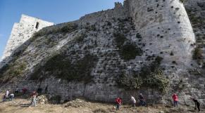 Château des croisades en Syrie