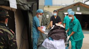 Hôpital Médico-Chirurgical de Campagne déployé par les FAR à Beyrouth