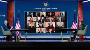 Joe Biden - Kamala Harris - Visioconférence - Covid-19