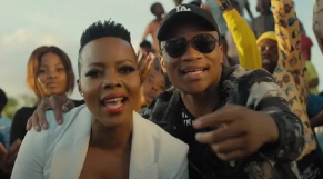 Le DJ sud-africain Master KG et la chanteuse Nomcebo Zikode.