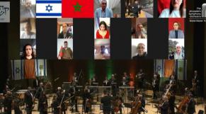 L'orchestre symphonique de Jerusalem interprète l'hymne marocain