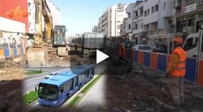 "Cover_Vidéo: انطلاق أشغال تشييد مسار ""باصواي"" الدار البيضاء"