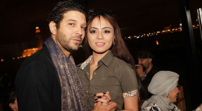 L'acteur Anas El Baz et son épouse Sarah Florensa Paago.