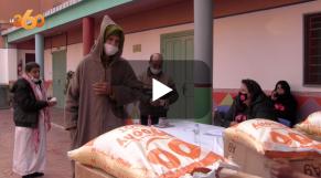 Cover Vidéo - توزيع 250 قفة من المواد الغذائية لدعم حلايقية جامع الفنا
