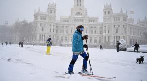Espagne - tempête de neige - Madrid - Ski