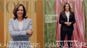 """Kamala Harris en couverture de """"Vogue"""""""