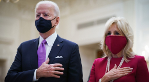 Joe et Jill Biden - Etats-Unis - Messe virtuelle