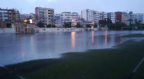 Beaulieu, l'annexe sportive du lycée Lyautey, sous l'eau