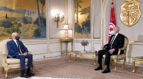 Dr Yves Souteyrand, représentant de l'OMS en Tunisie, reçu par le président de la république Kaïs Saied.