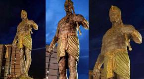 une statue du pharaon Sheshonq 1er