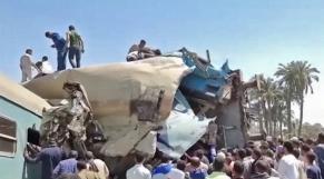 Egypte - Collision train - Sohag - Accident