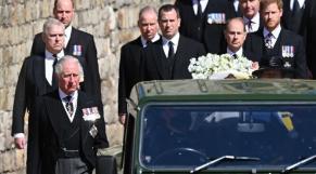 procession funéraire en hommage au prince Philip