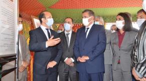 Le ministre de l'Agriculture, de la Pêche Maritime, du Développement Rural et des Eaux et Forêts, Aziz Akhannouch et la ministre du Tourisme, de l'Artisanat, du Transport Aérien et de l'Economie sociale, Nadia Fettah Alaoui