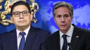 Antony Blinken, secrétaire d'Etat américain, et Nasser Bourita, ministre des Affaires étrangères