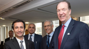 Mohamed Benchaaboun et David Malpass