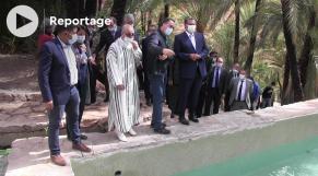 Cover - Aziz Akhannouch - Nadia Fettah Alaoui - Visite - Aït Mansour
