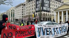 Etats-Unis - Environnement - Manifestations - Banderoles