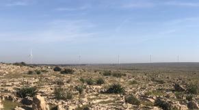 Le site du parc éolien d'InnoVent à près de Oualidia
