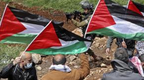 Cisjordanie occupée - Naplouse - Manifestation -