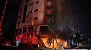 Gaza - Bombardement israélien - Israël - Palestine - Bâtiment de médias
