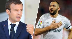 Emmanuel Macron et Karim Benzema.