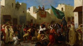 Fanatiques de Tanger - Huile sur toile - Eugène Delacroix - Orientalisme