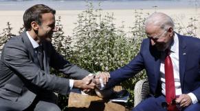 Emmanuel Macron - Joe Biden - G7 - Cornouailles - Carbis Bay - Angleterre - France - Etats-Unis