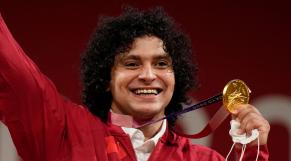 L'haltérophile qatarien Fares El-Bakh.