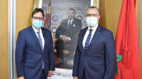 Abdellatif Bardach, président de l'ANRE et Abderrahim El Hafidi, DG de l'ONEE.