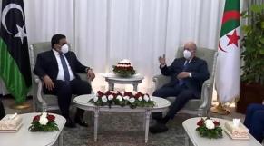 """En visite à Alger, le président libyen obtient de Tebboune la promesse de """"son soutien absolu"""""""