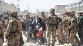 Afghanistan - Troupes US et britanniques - Aéroport de Kaboul - Retrait américain - Evacuations civils - Talibans