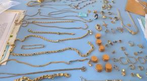 Les bijoux en or saisis au port de Tanger Med
