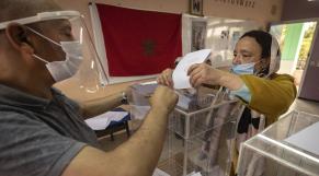 Bureau de vote à Rabat
