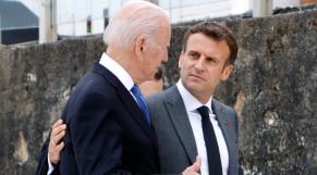 Joe Biden - Emmanuel Macron - Etats-Unis - France - Présidents américain et français - Carbis Bay - G7