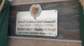 Sénégal - Dakhla - Consulat Général - République du Sénégal - Plaque