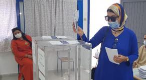 Bureau de vote à Tanger