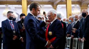 général François Meyer - Emmanuel macron - cérémonie harkis
