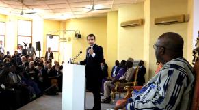 Emmanuel Macron - Koch Marc Christian Kaboré - Université de Ouagadougou - Burkina Faso